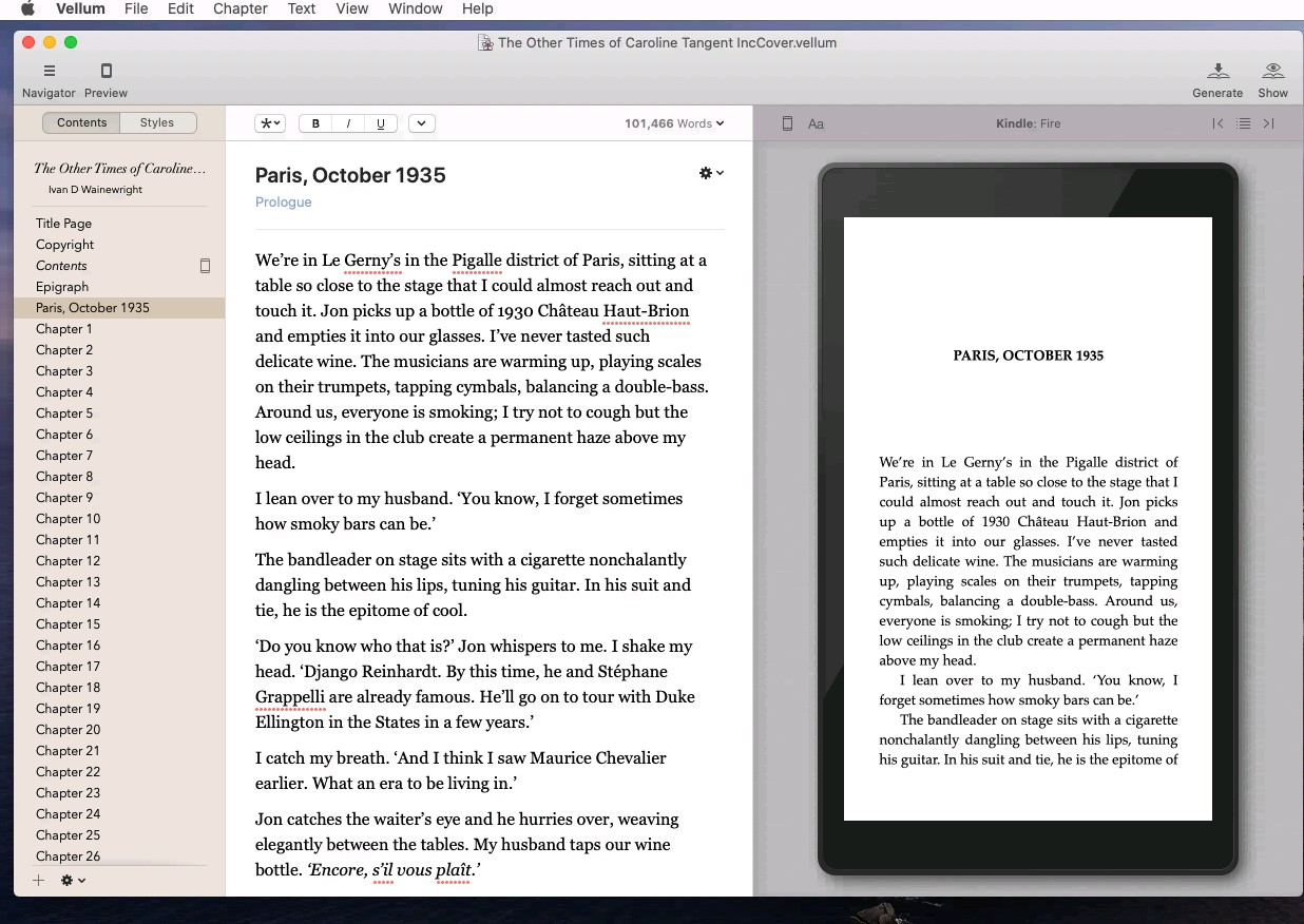 Using Vellum Software for Typesetting